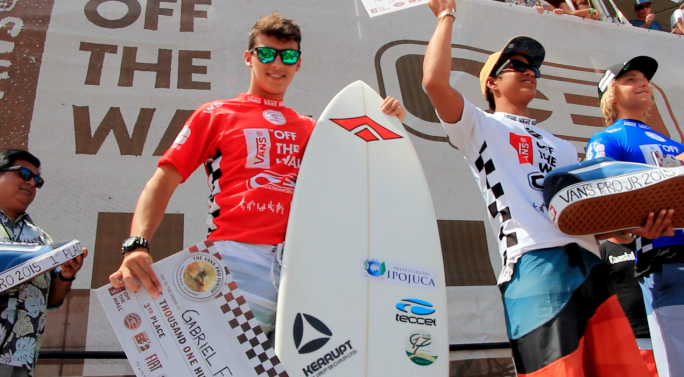 Gabriel faz podium e finaliza em terceiro no Vans Pro Junior
