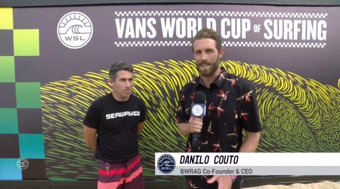 Danilo Couto é entrevistado pela WSL