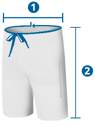 Medidas e tamanhos do Boardshort
