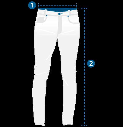 Medidas e tamanhos da calça