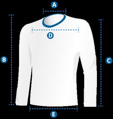 Medidas e tamanhos da camisa