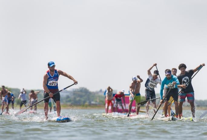 Primeiro dia de competição de stand up paddle race no ISA GAMES na Nicarágua!