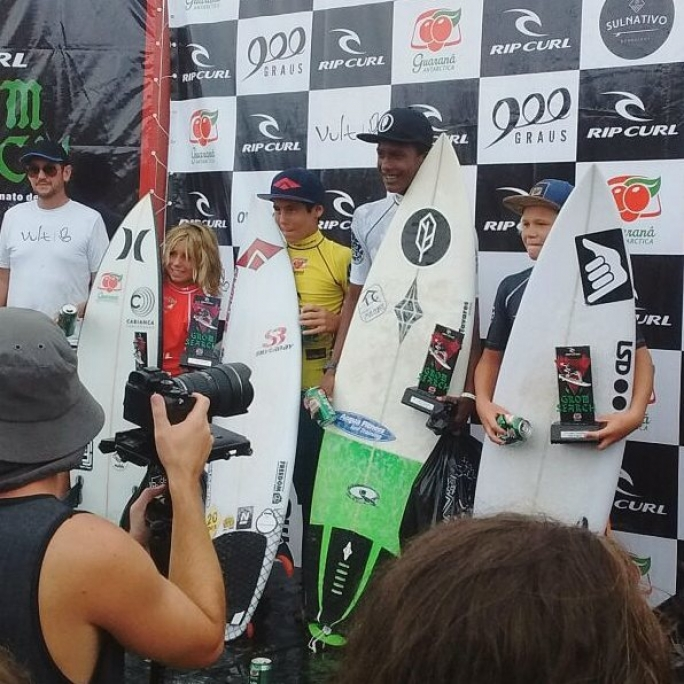 Diego no Podium do Grom Search